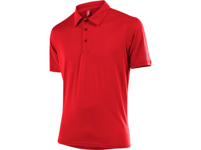 Löffler Transtex Single CF Poloshirt Hombre, red